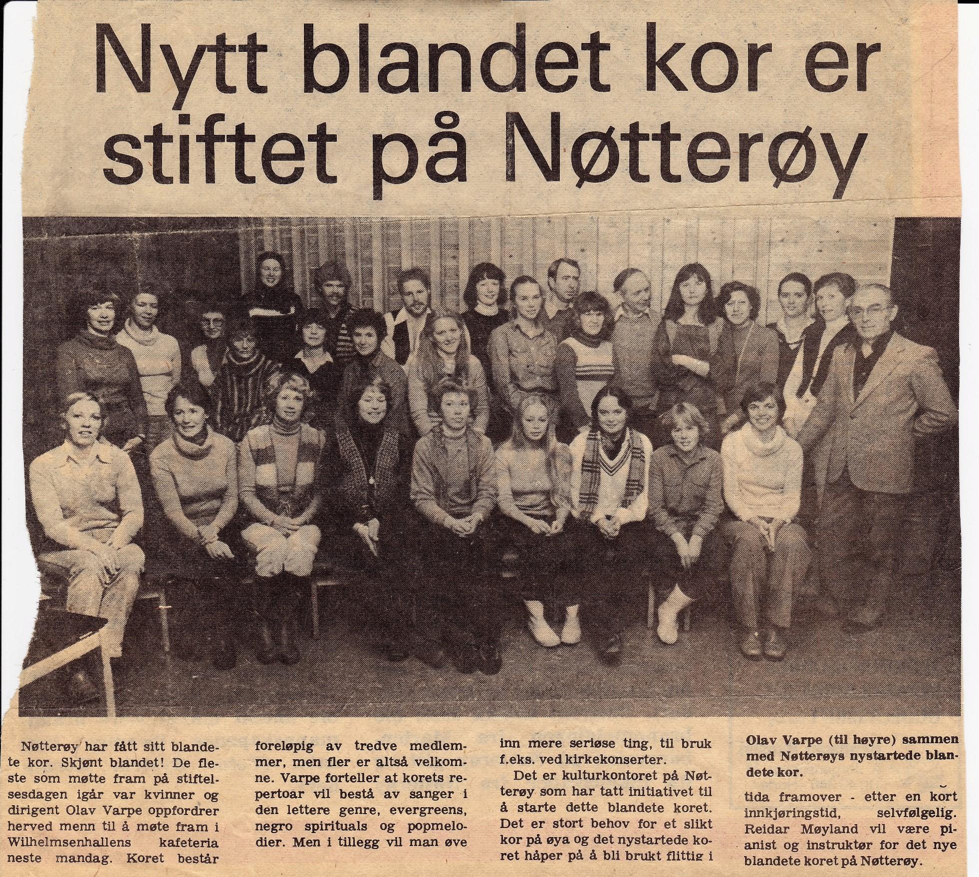 Korets etablering vinter 1981